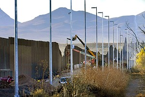 Photo for Damage From Border Wall: Blown-Up Mountains, Toppled Cactus