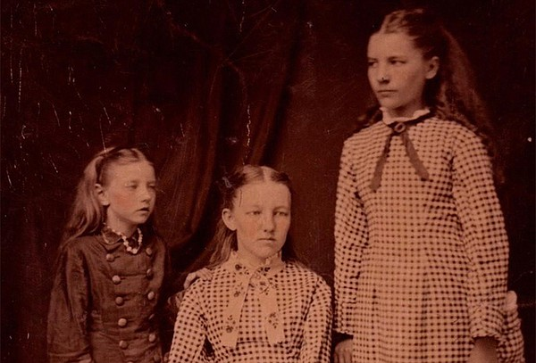 Carrie, Mary, and Laura Ingalls, c. 1879