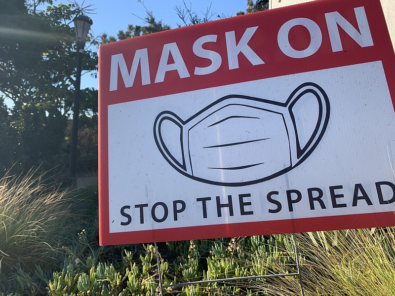 A sign in Del Mar is shown notifying the public to