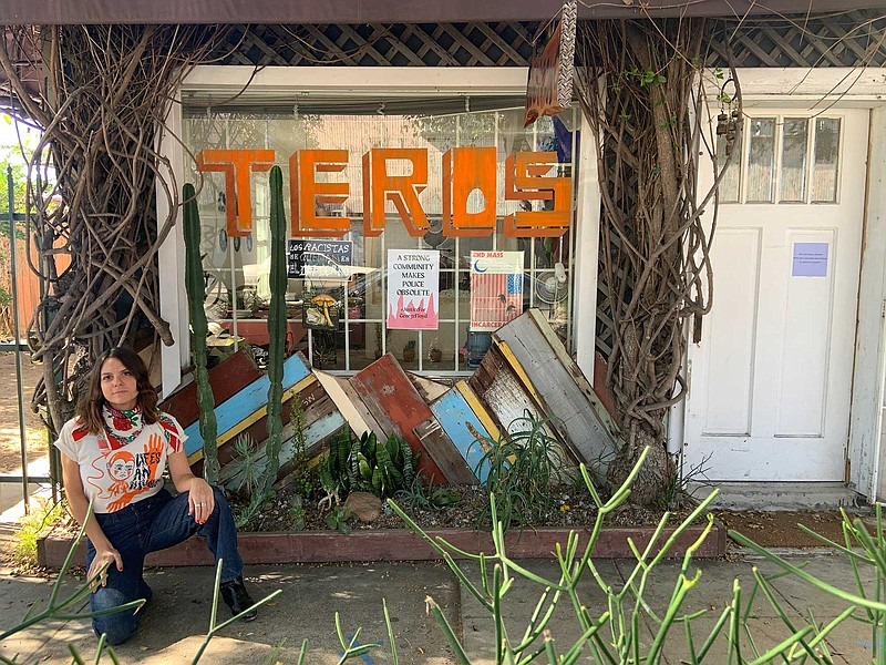 Teros Gallery founder Alejandra Frank is pictured in front of the art space i...