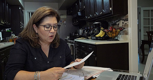 Blanca Carrasco, from El Paso, Texas, conducted her famil...