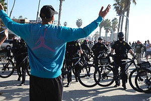 Photo for Three People Face Charges Over Pro-, Anti-Trump Protests In Pacific Beach
