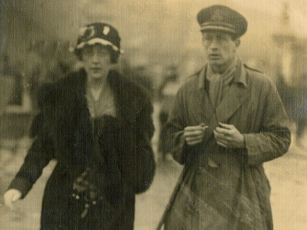 Agatha Christie with her first husband, Archie Christie. ...