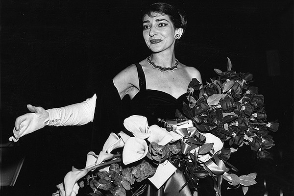 Maria Callas, Opera singer (1958) at curtain call after h...