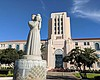 The entrance to the San Diego County Administra...