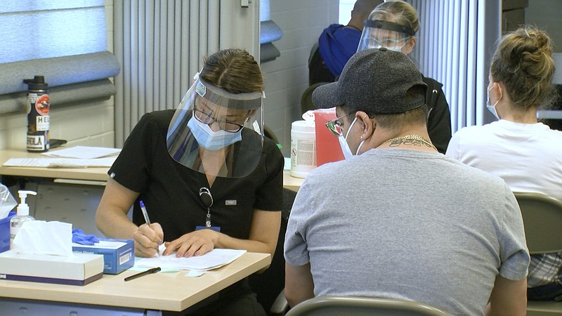 A new COVID-19 vaccination site is up and running in the South Bay at the Imp...