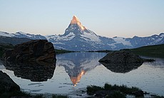 The Matterhorn, a mountain of the Alps, is one ...