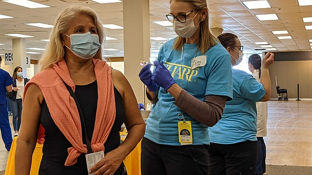 Photo for COVID-19 Vaccination Superstation Opens in Chula Vista, S...