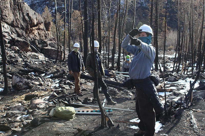 Colorado State University hydrologist Stephanie Kampf (right) and a team of r...