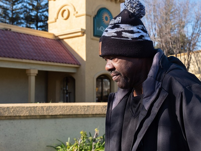 Curtis Freeman has a room at a motel in Sacramento through Project Roomkey, M...