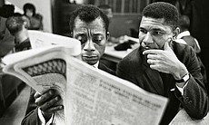 James Baldwin and Medgar Evers (undated photo) ...