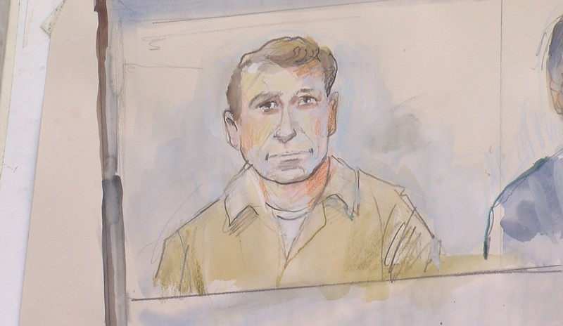 Jeffrey Alexander Smith appears in court in this court room sketch. Jan. 28, ...