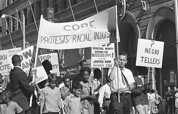 Congress of Racial Equality (CORE) members protested the ...