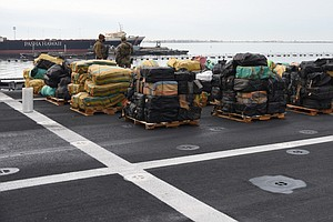 Photo for Coast Guard, Navy Offload 10 Tons Of Seized Drugs