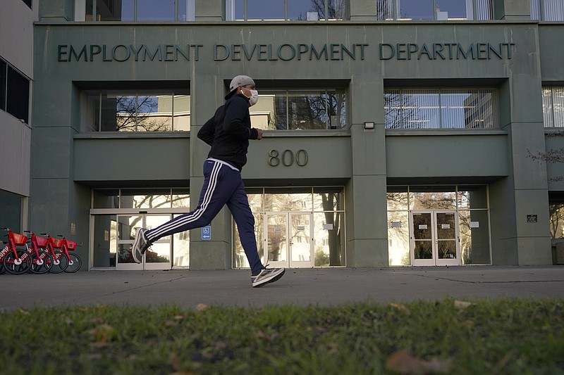 The office of the California Employment Development Department is seen in Sac...