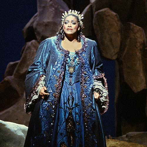 Soprano Jessye Norman is pictured in the 1988 production ...