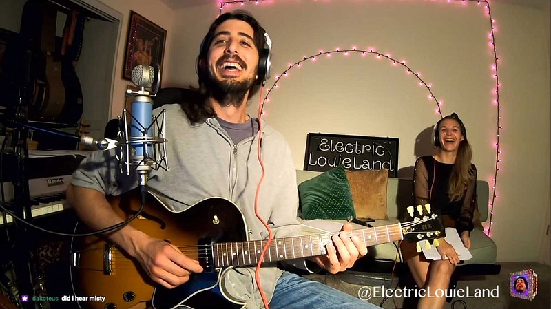 Louis Valenzuela is behind ElectricLouieLand, a livestreaming outlet for musi...