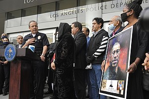 Photo for LAPD, Police Union Outraged By Report Of Floyd 'Valentine'