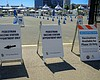 Signs directing pedestrians at the Petco Park v...