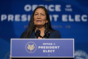 Photo for Indian Country Gripped By Haaland Hearing For Top US Post