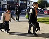 Students arrive at Newhall Elementary School Th...