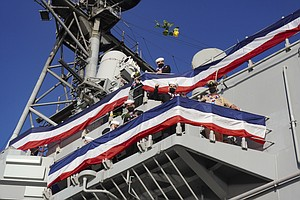 Photo for Nimitz Carrier Strike Group Return To San Diego After 321 Days Deployed