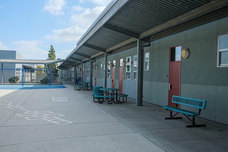The Montgomery Middle School playground is pictured in San Diego, Feb. 17, 20...