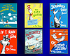 A graphic showing the six Dr. Seuss' books that...