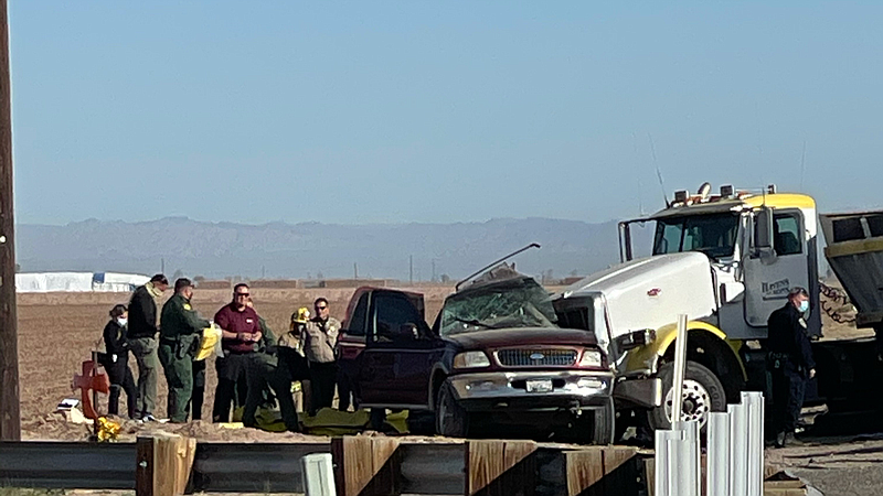 An SUV crashed into a semi-truck in Holtville on Highway 115, near El Centro ...