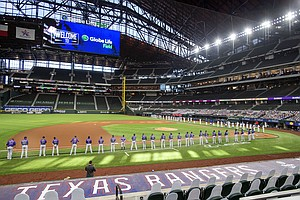 Photo for MLB's Rangers In Line To Be First Team Back To Full Capacity
