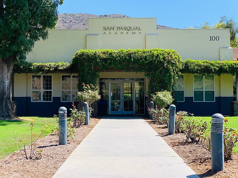 Undated picture of exterior of San Pasqual Academy in Escondido.