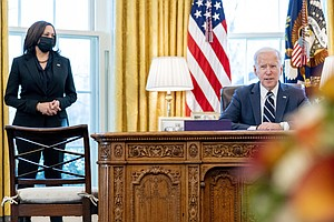 Photo for Biden Signs $1.9 Trillion Relief Bill Before Speech To Nation