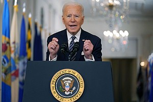 Photo for Biden Aims For Quicker Shots, 'Independence From This Virus'