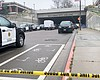 San Diego Police roped off the area of a fatal ...