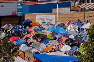 Photo for Inside Migrant Camp In Tijuana, Asylum-Seekers Are Waiting On A Plan
