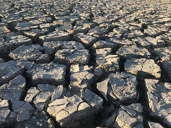 dry lakebed at the Salton Sea in this undated photo.