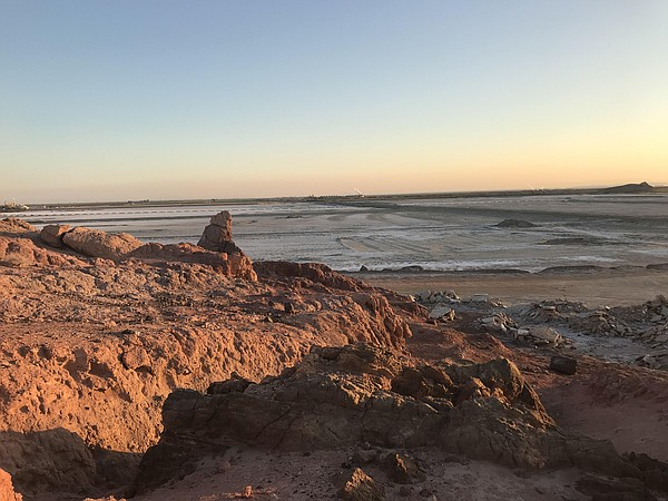 Red Hill Bay stretches out toward the horizon in this und...