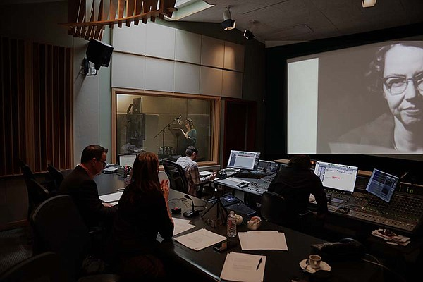 Mary Steenburgen records narration for