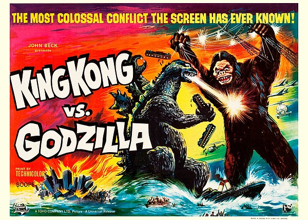 The 1963 American poster for the Toho film