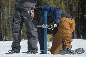 Photo for California Snowpack Below Normal With Wet Season Ending