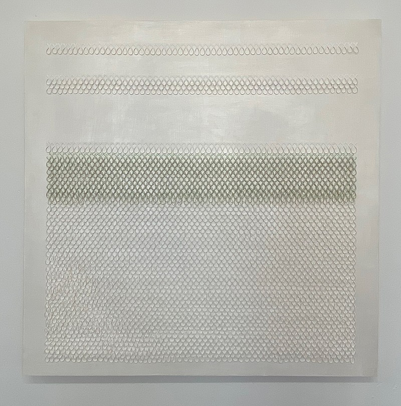 Christian Garcia-Olivo's 'Untitled White and Pearlescent Green on Nacreous' i...