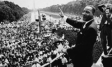 Martin Luther King, Jr. at the March on Washing...