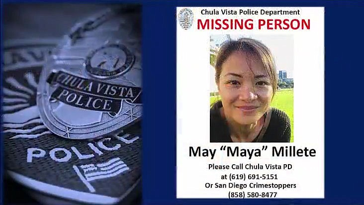 A missing poster of Maya Millete released by the Chula Vista Police Departmen...