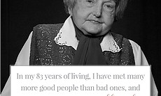 """""""In my 83 years of living, I have met many more..."""