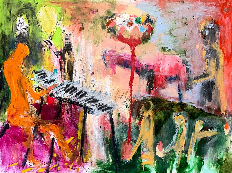 The album art for local musician Kelly Einbinder's improvisational piano albu...