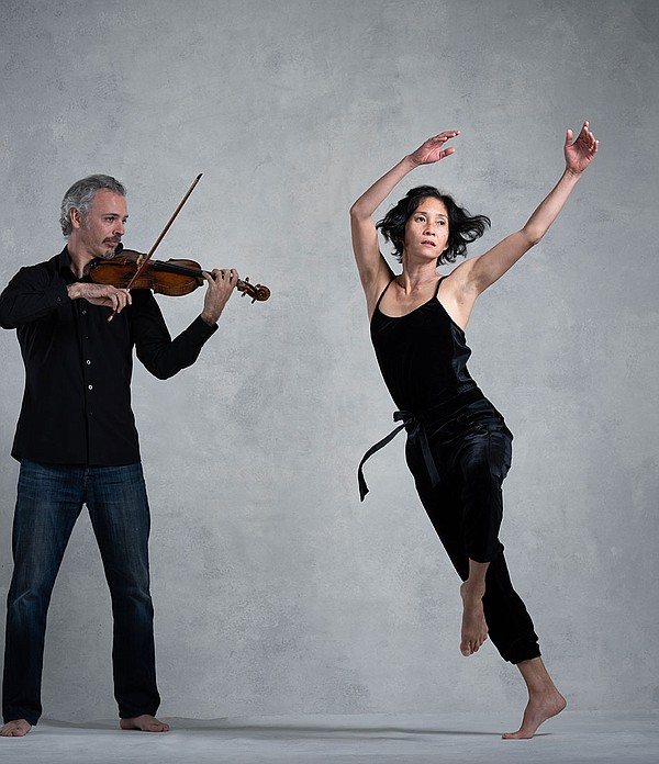 Colin Jacobsen and Maile Okamura perform as part of LITVA...
