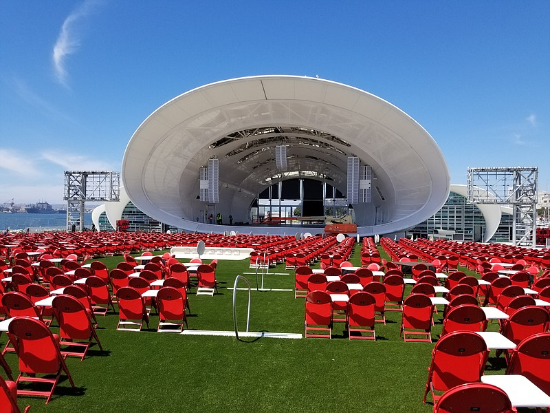 The Shell, San Diego Symphony's new state of the art waterfront venue, is sho...