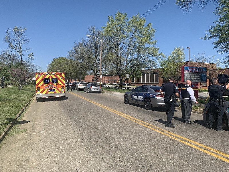 Police responding to a school shooting in Knoxville, Tennessee.