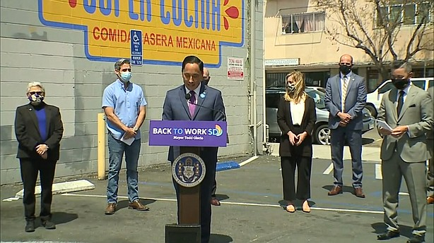Photo for Mayor Gloria Proposes $4.6 Billion Budget To Help City Re...