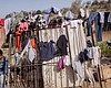 The clothing and shoes of migrants who had been...
